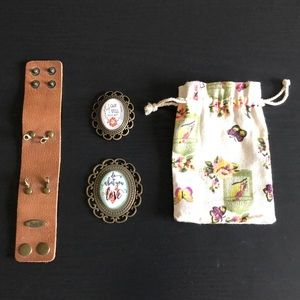 PLUNDER Tan Cuff and 2 Pendants
